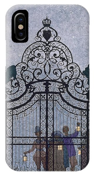 House iPhone Case - Illustration For 'fetes Galantes'  by Georges Barbier