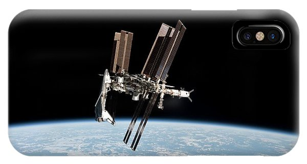 Iss And Space Shuttle Phone Case by Nasa/science Photo Library
