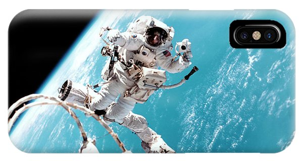 International Space Station iPhone Case - Iss Space Walk by Nasa