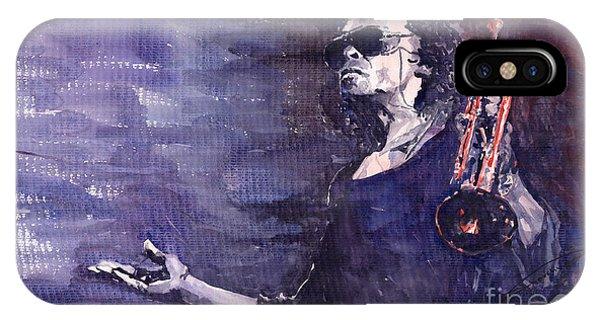 Portret iPhone Case - Jazz Miles Davis by Yuriy Shevchuk