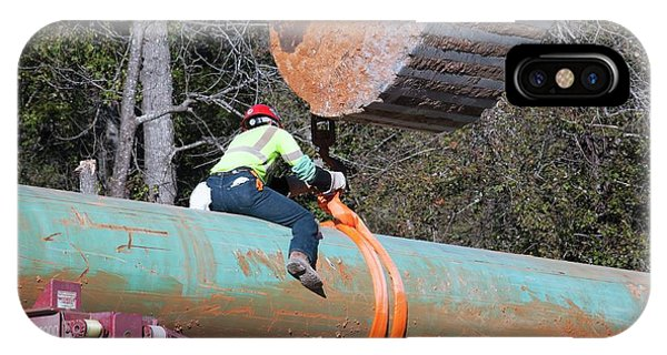 Controversial iPhone Case - Keystone Xl Pipeline Construction by Jim West