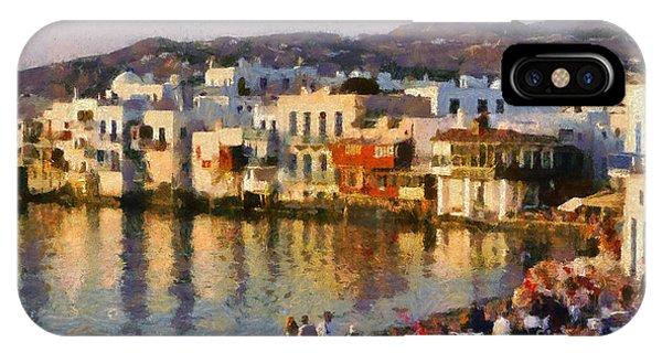 Little Venice In Mykonos Island IPhone Case
