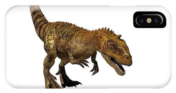 Majungasaurus Dinosaur Phone Case by Mikkel Juul Jensen