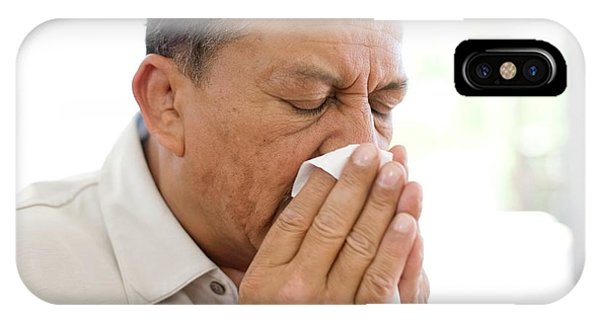 Man Sneezing Phone Case by Ian Hooton/science Photo Library