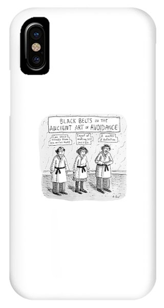 3 Middle-aged People In Karate Uniforms -- Black IPhone Case