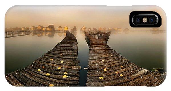 Pier iPhone Case - Mist... by Krzysztof Browko
