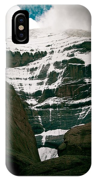 Kora iPhone Case - Mount Kailash Western Slope Home Of The Lord Shiva by Raimond Klavins