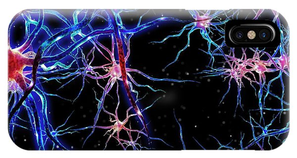 Nerves iPhone Case - Neural Network by Maurizio De Angelis