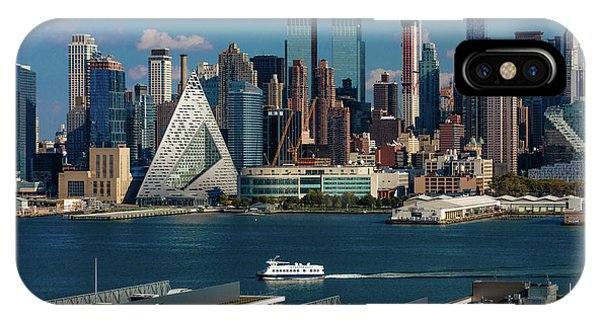 Capitol Building iPhone Case - New York City Skyline As Seen by Panoramic Images