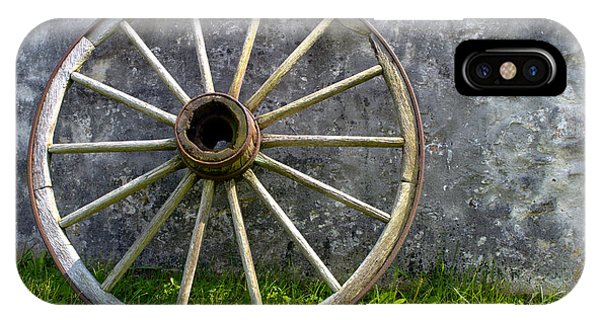 Wagon Wheel iPhone Case - Antique Wagon Wheel by Olivier Le Queinec