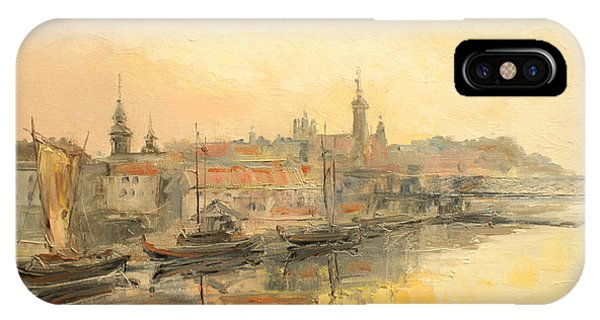 Old Warsaw - Wisla River IPhone Case