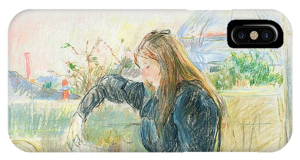 Pastel Pencil iPhone Case - On The Balcony by Berthe Morisot