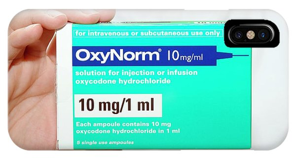 Oxycodone Hydrochloride Painkiller Phone Case by Dr P. Marazzi/science Photo Library