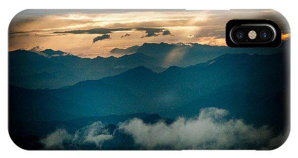 Panaramic Sunset Himalayas Mountain Nepal IPhone Case