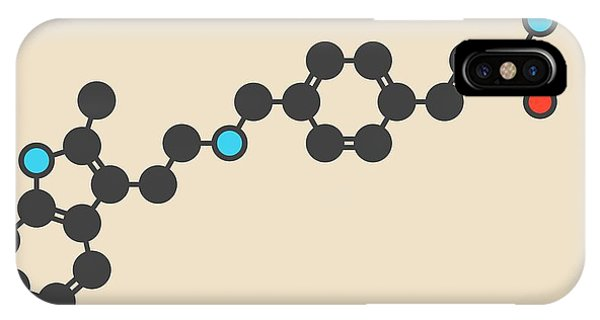 Panobinostat Cancer Drug Molecule Phone Case by Molekuul