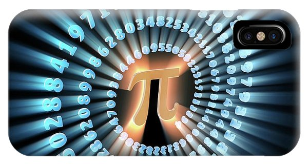 Pi Symbol And Number Phone Case by Alfred Pasieka