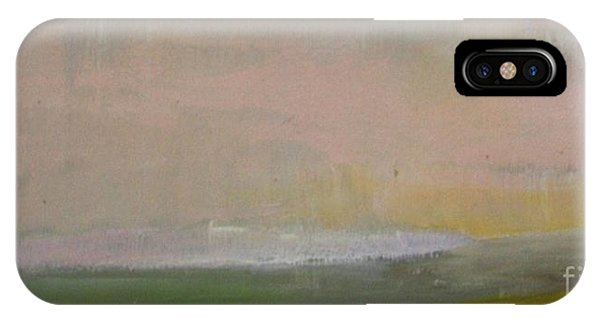 Abstract Landscape iPhone Case - Pink Dusk by Vesna Antic