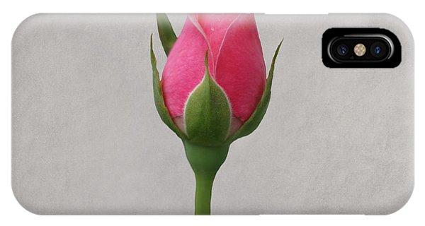 Pink Rosebud IPhone Case