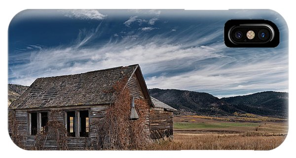 Antiquated iPhone Case - Pioneer Cabin  by Leland D Howard