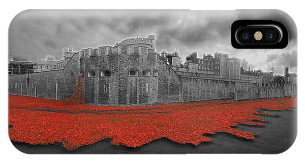 Poppies Tower Of London Collage IPhone Case