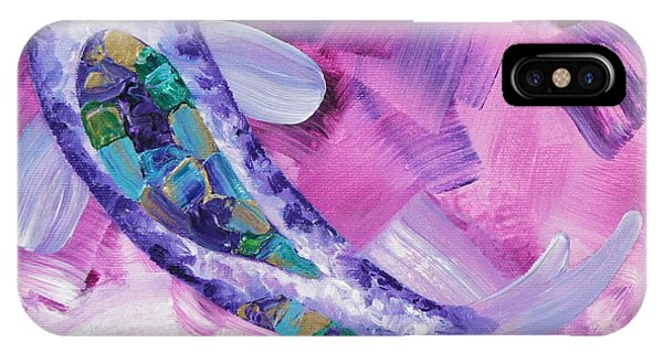 Purple Koi IPhone Case