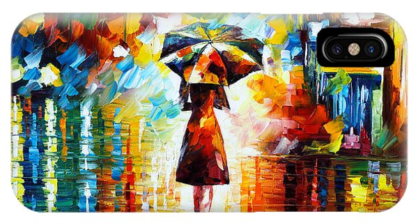 Magician iPhone Case - Rain Princess by Leonid Afremov