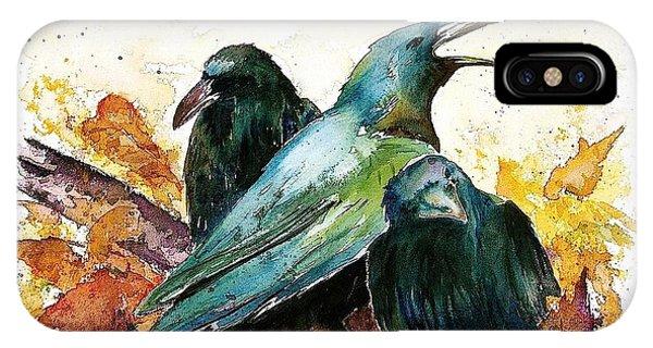 3 Ravens IPhone Case