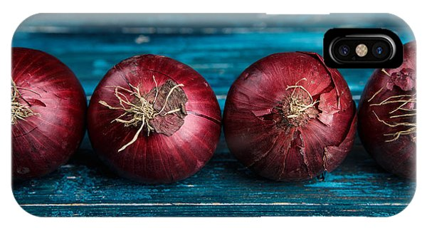 Organic Foods iPhone Case - Red Onions by Nailia Schwarz