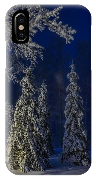 Rib Mountain State Park Snow IPhone Case