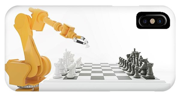 Robotic Arm Playing Chess IPhone Case