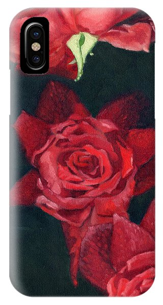 3 Roses Red IPhone Case