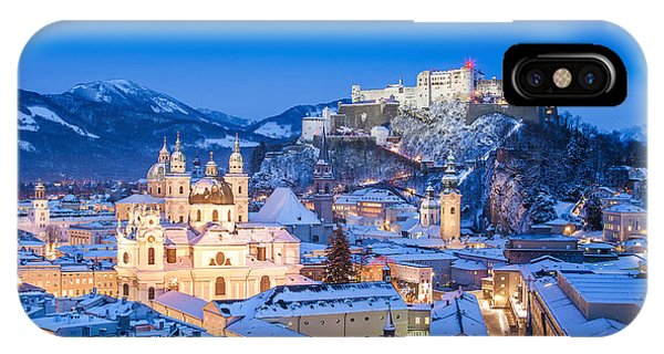 Salzburg In Winter IPhone Case