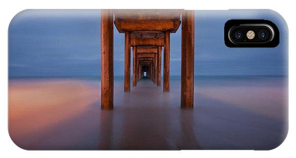 Scripps Pier iPhone Case - Scripps Pier Dusk by Peter Tellone