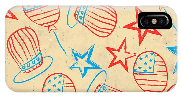Seamless Pattern For 4th Of July Phone Case by Allies Interactive