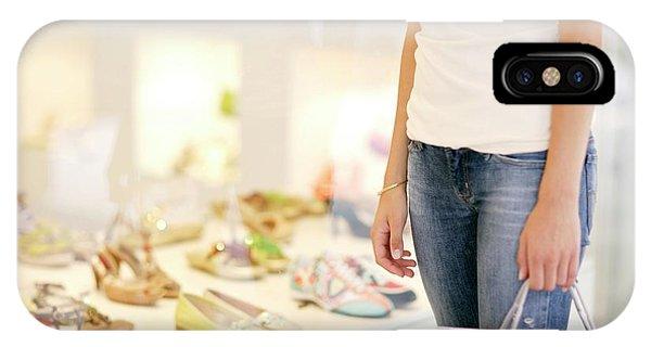 Window Shopping iPhone Case - Shoe Shopping by Ian Hooton/science Photo Library