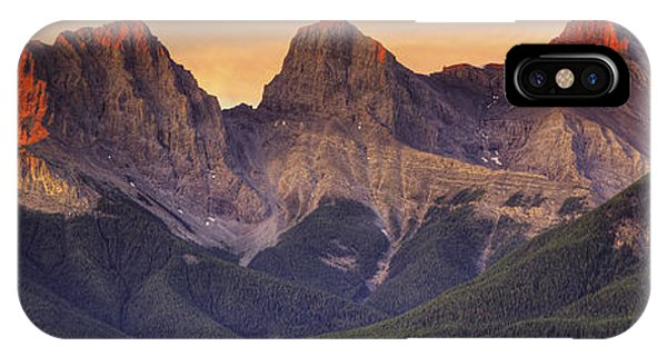 3 Sisters Canmore Alberta IPhone Case