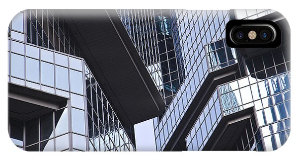 Skyscraper Windows Background Phone Case by IB Photography