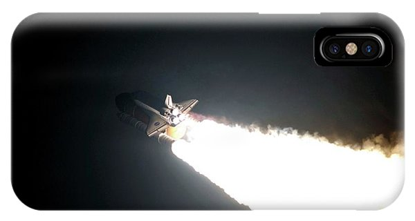 Liftoff iPhone Case - Space Shuttle Endeavour Launching by Nasa/science Photo Library