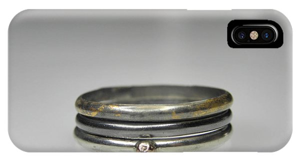 3 Stacking Silver Rings With 14k And 24k Gold Phone Case by Vesna Kolobaric