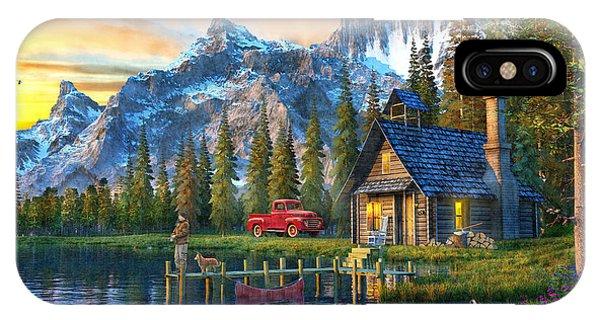 Rocky Mountain iPhone Case - Sunset At Log Cabin by Dominic Davison