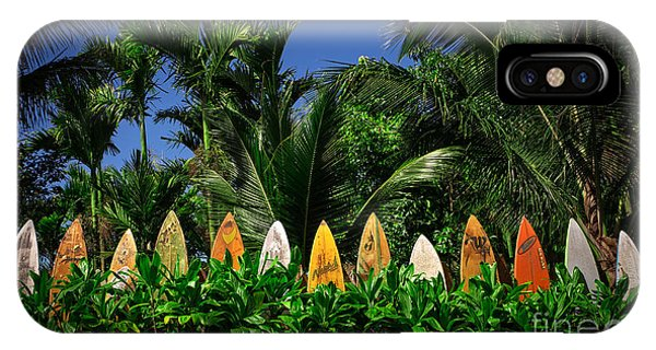 Surf Board Fence Maui Hawaii IPhone Case