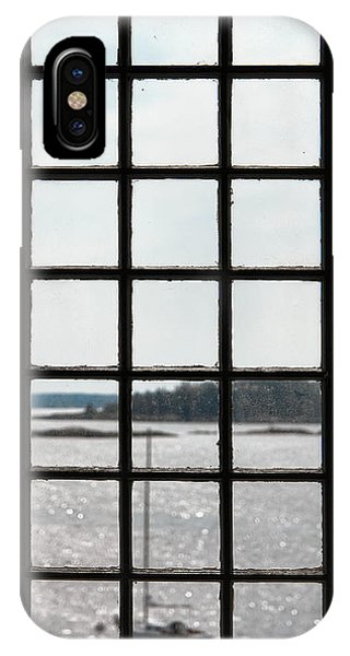 Window Pane iPhone Case - Through An Old Window by Olivier Le Queinec