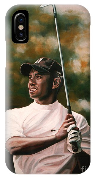 Tennis iPhone Case - Tiger Woods  by Paul Meijering