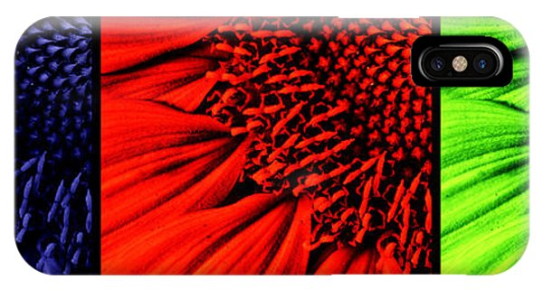 Sunflower Seeds iPhone Case - 3 Tile Sunflower Colors by Mark Kiver