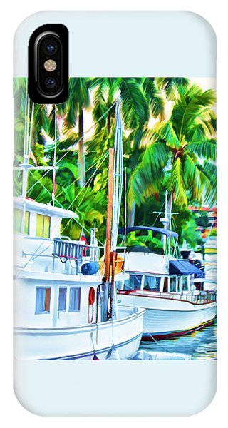 IPhone Case featuring the painting Two Boats by Deborah Boyd
