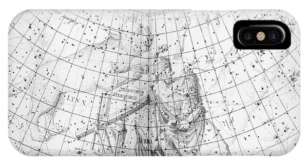 Lynx iPhone Case - Uranographia Constellations by Royal Astronomical Society/science Photo Library