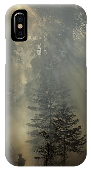 Kings Canyon iPhone Case - Usa, California, Forest Fire, Sequoia by Gerry Reynolds