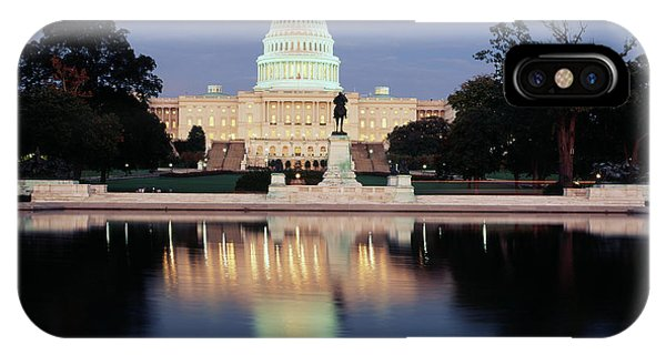 Capitol Building iPhone Case - Usa, Washington Dc, Capitol Building by Walter Bibikow