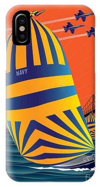 Usna Sunset Sail IPhone Case