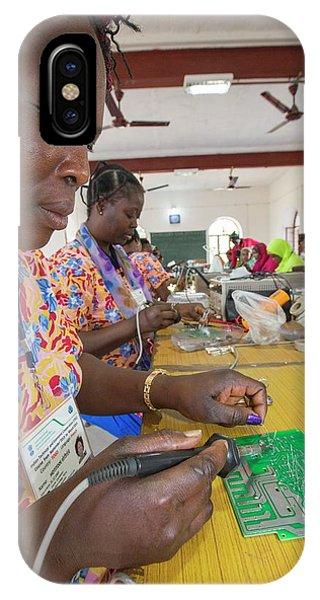 Women On A Solar Workshop IPhone Case